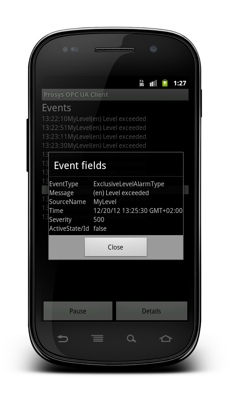 Android Client: Events