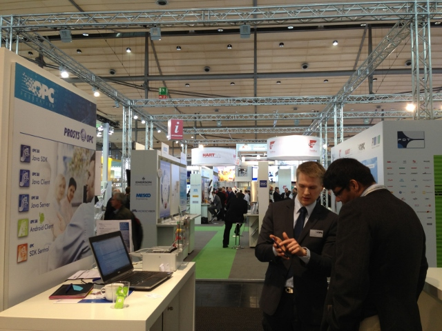 Tuomas at Hannover Messe